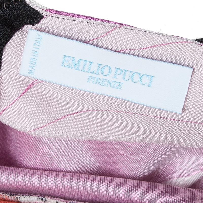 Emilio Pucci Abstract Print Halterneck Dress XS
