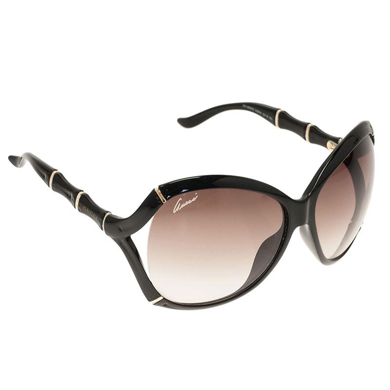 Gucci Black Bamboo GG3509 Square Sunglasses