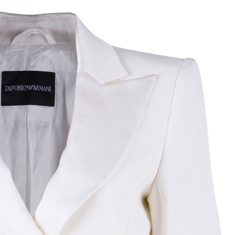 Emporio Armani White Tailored Blazer M