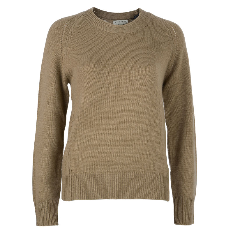 Burberry London Camel Cashmere Sweater L