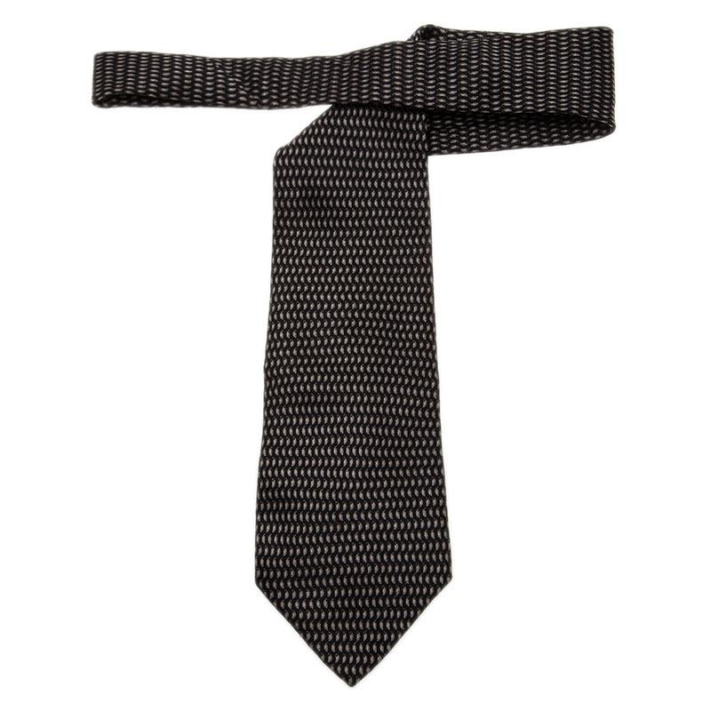 Valentino Black Silk Tie