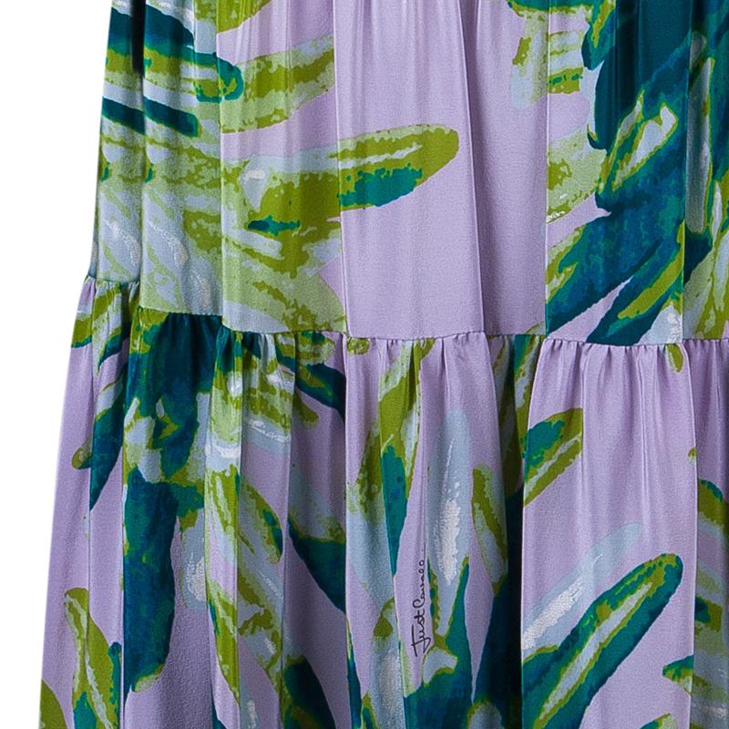 Just Cavalli Multicolor Printed Skirt M