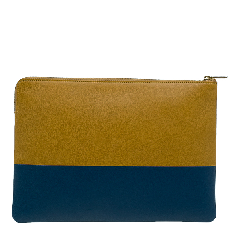 Celine Bi Color Leather Solo Clutch