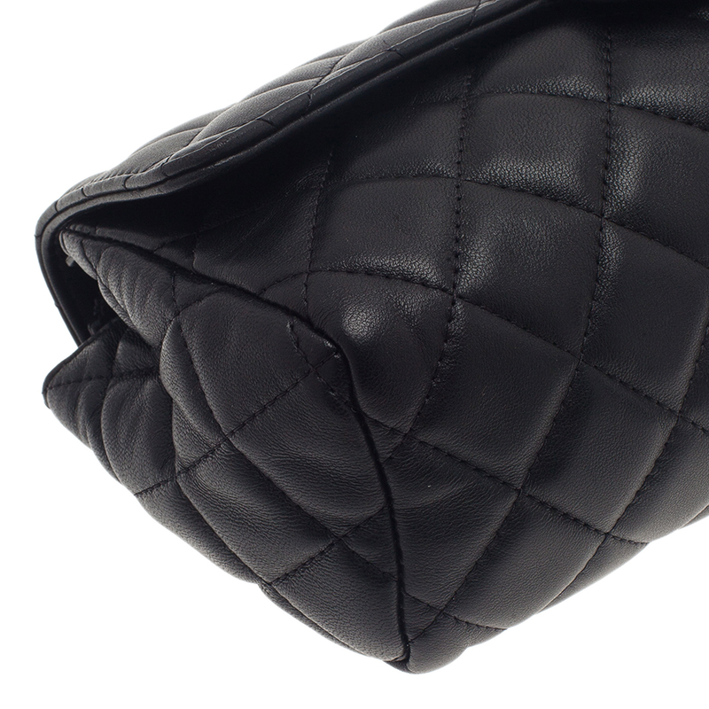 Chanel Black Quilted Leather Cosmetic Case
