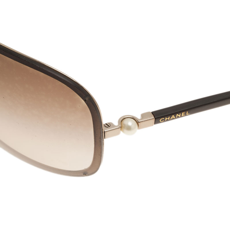 Chanel Brown Shield 4170-H Collection Perle Sunglasses