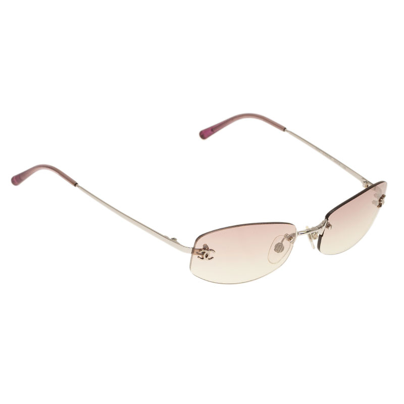 Rimless Chanel Glasses : Chanel Purple 4002 Rimless Sunglasses - Buy & Sell - LC