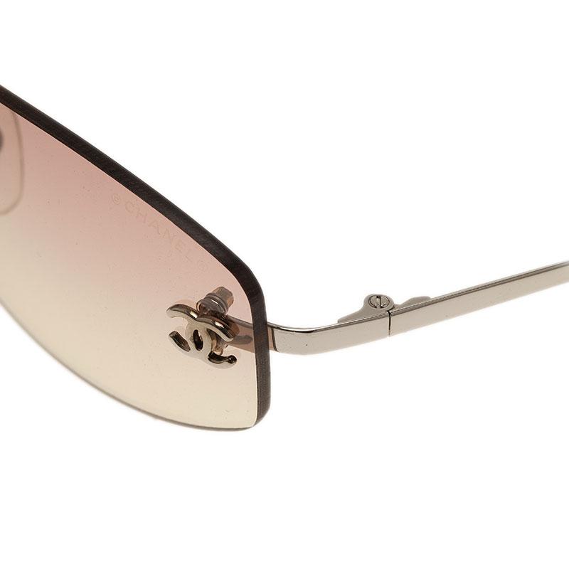 Chanel Purple 4002 Rimless Sunglasses