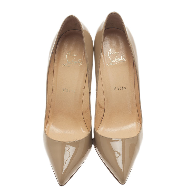 Christian Louboutin Beige Pigalle Pumps Size 39.5