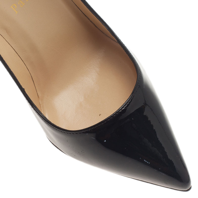 Christian Louboutin Black Patent Pigalle Pumps Size 37