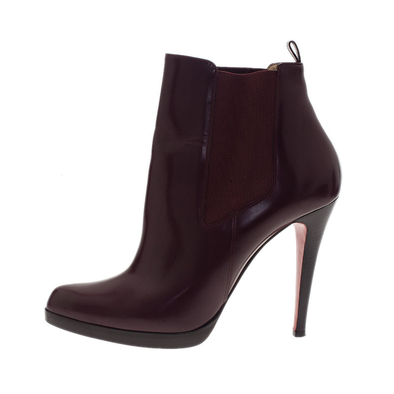 Christian Louboutin Burgundy Boots Size 41.5