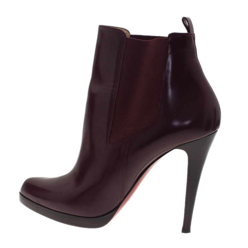 Christian Louboutin Burgundy Boots Size 41.5