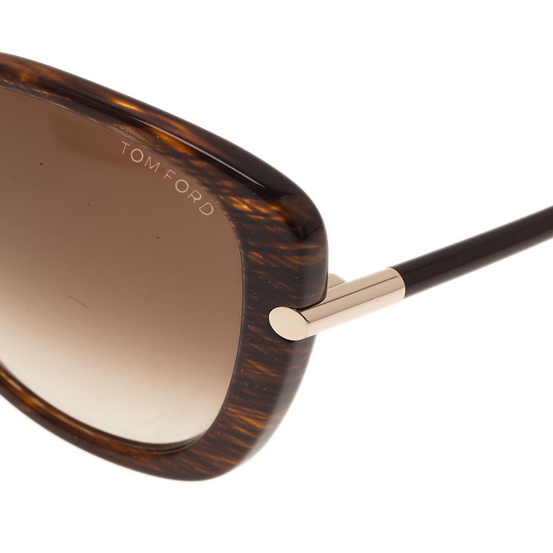 Tom Ford Brown Linda Cat Eye Sunglasses