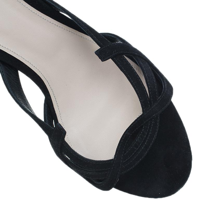 Bottega Veneta Black Suede Slides Size 40