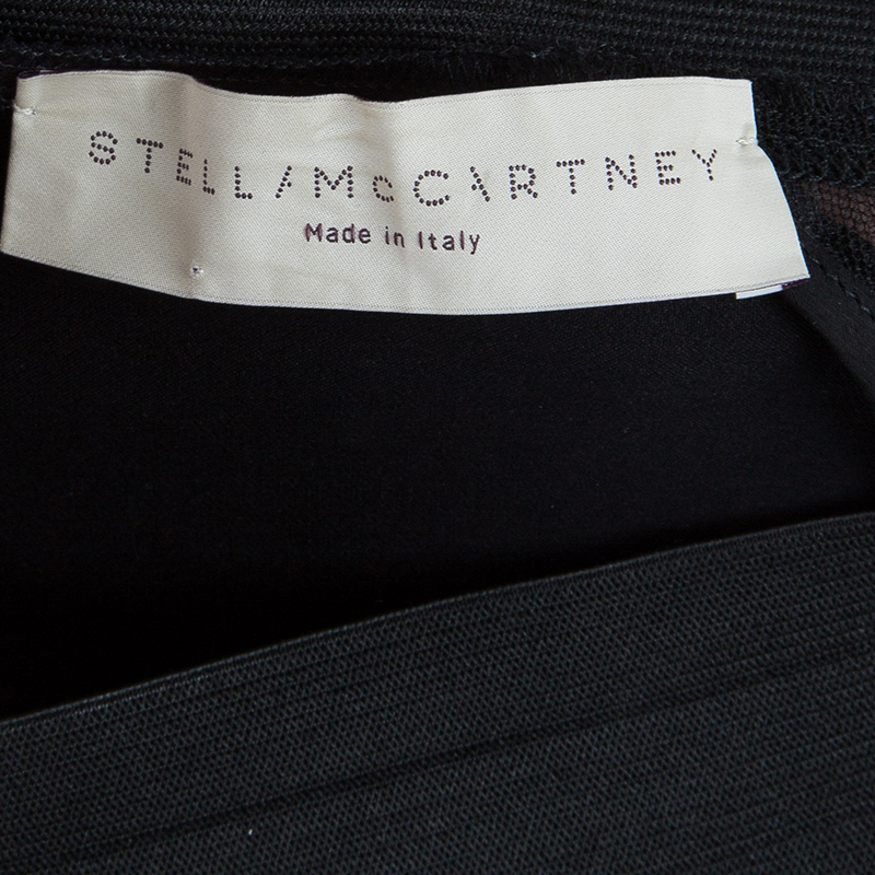 Stella McCartney Black Panel Detail Trousers S