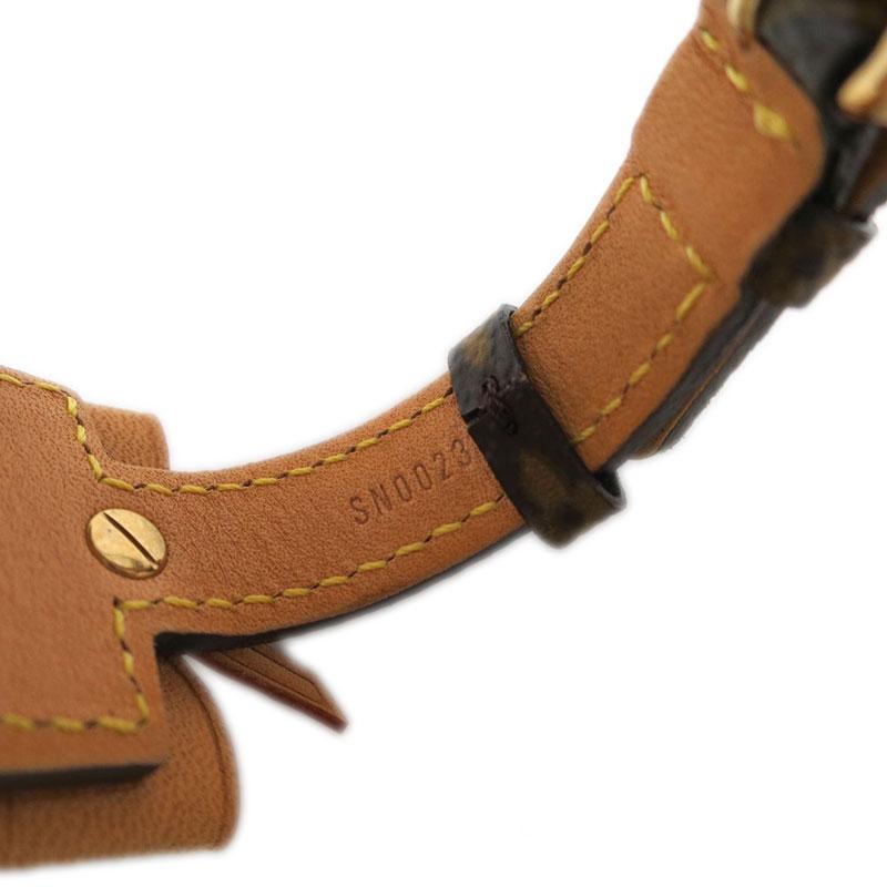 Louis Vuitton Porte Adresse Brown Canvas Bracelet