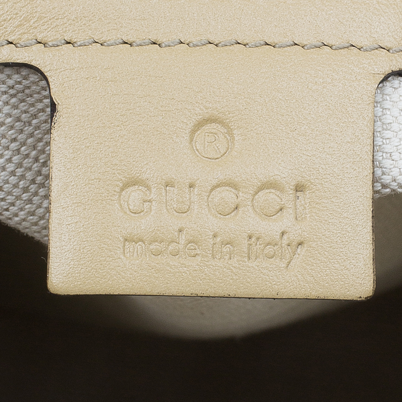 Gucci Beige Canvas Medium Scarlett Stud Interlocking G Tote