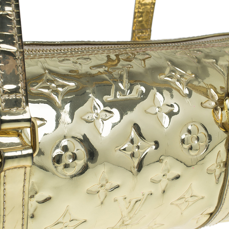 Louis Vuitton Limited Edition Gold Monogram Miroir Papillon Bag
