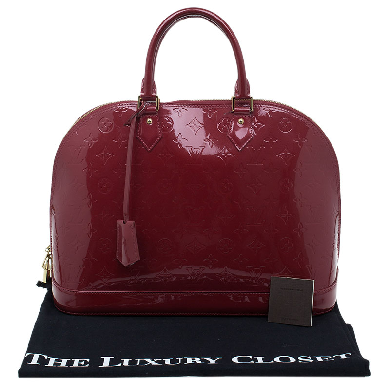 Louis Vuitton Red Monogram Vernis Alma GM Bag