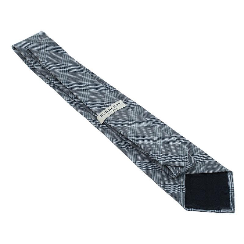 Burberry Grey Woven Silk Tie