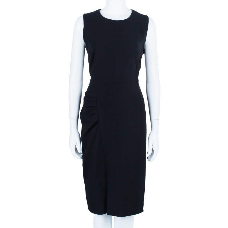 Max Mara Studio Black Alpe Sleeveless Dress L