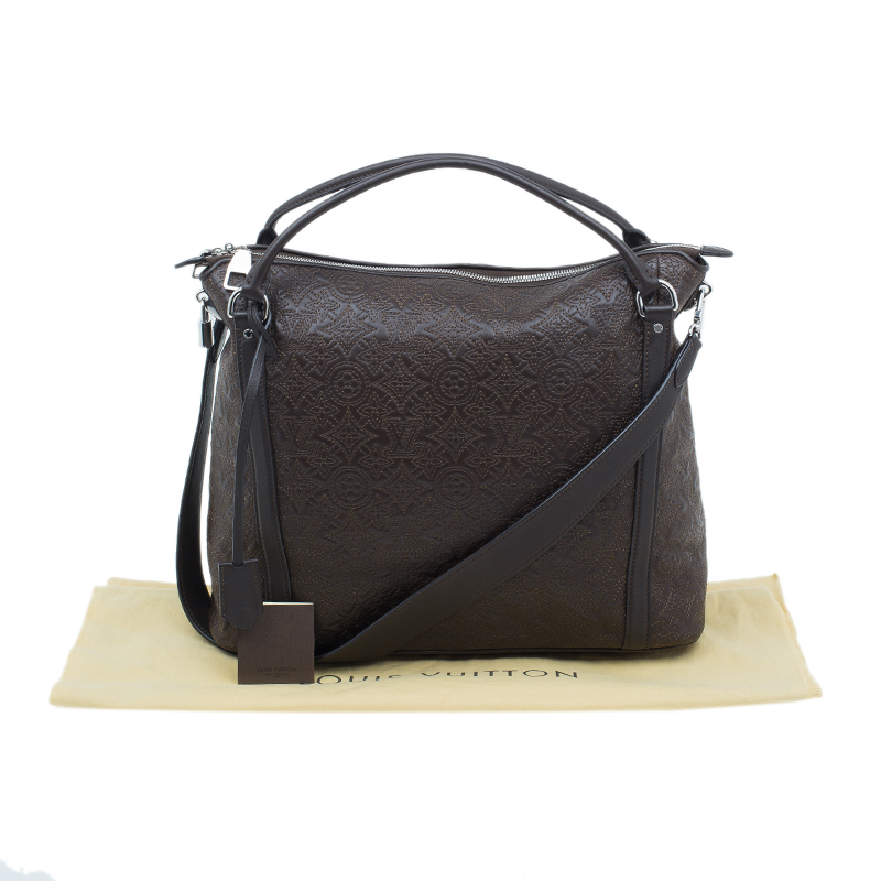 Louis Vuitton Brown Leather Antheia Tote MM