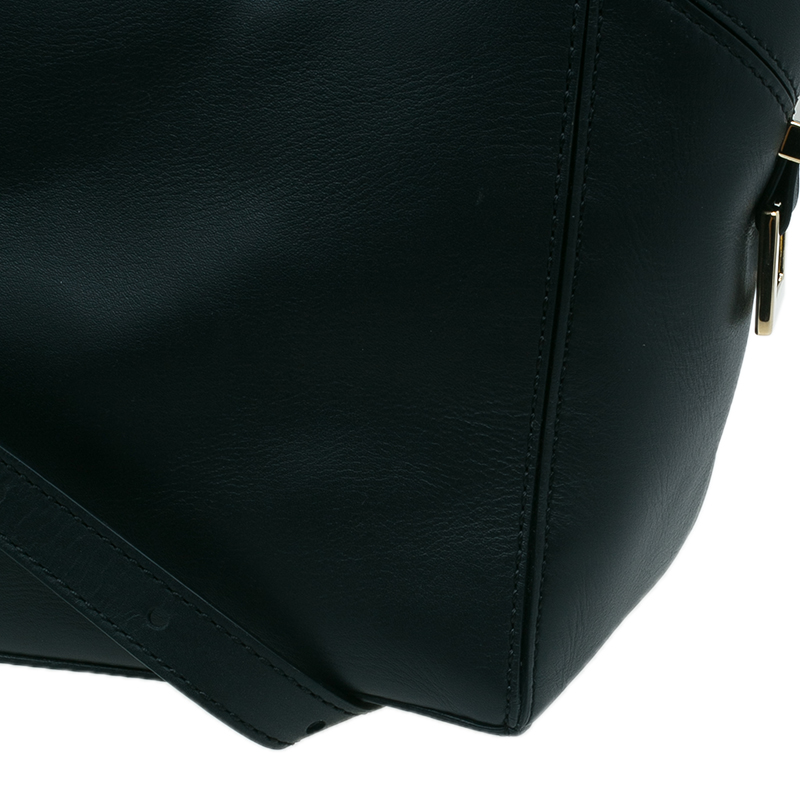Tod's Black Leather Small CC Zip Tote Bag