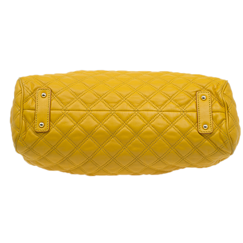 Marc Jacobs Yellow Quilted Leather Stam Shoulder Bag