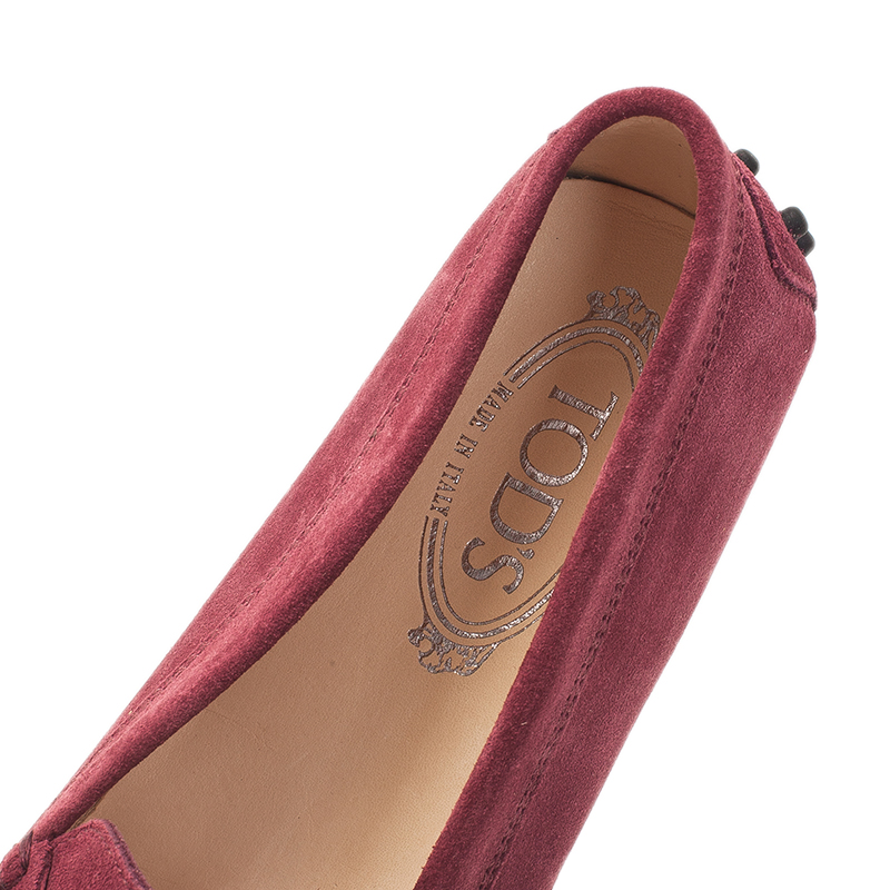 Tod's Purple Suede Penny Loafers Size 38.5