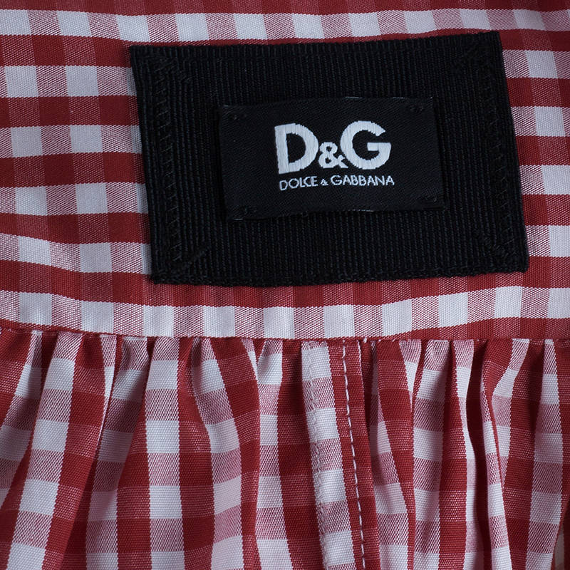 D&G Red Gingham Playsuit S
