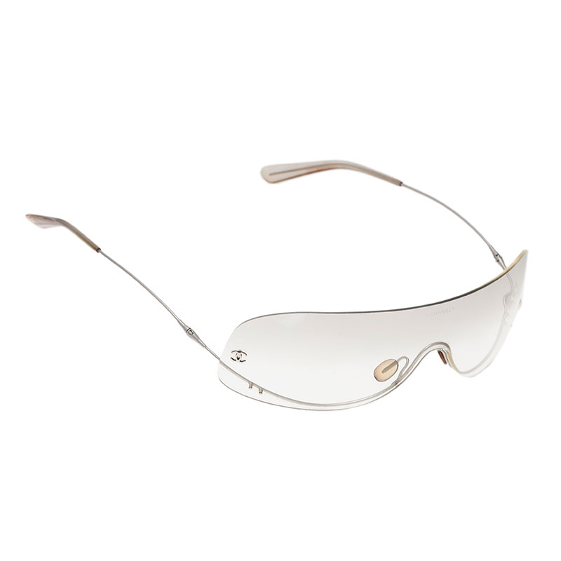 Rimless Chanel Glasses : Chanel White 4054 Pearl Rimless Sunglasses - Buy & Sell - LC