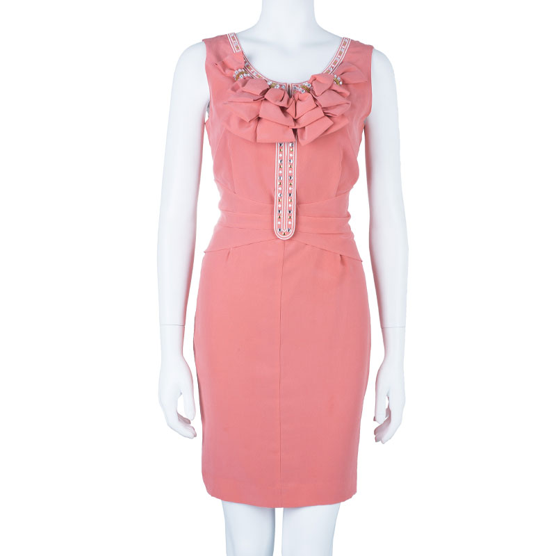 Alice By Temperley Pink Embellished Sleeveless Dress M