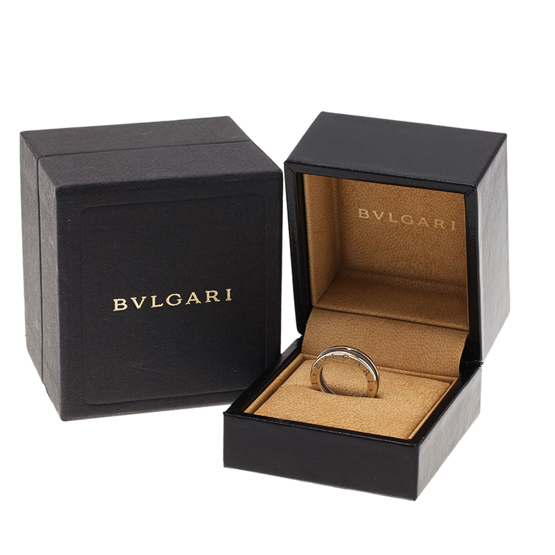 Bvlgari B.Zero1 1-band White Gold Ring Size 47