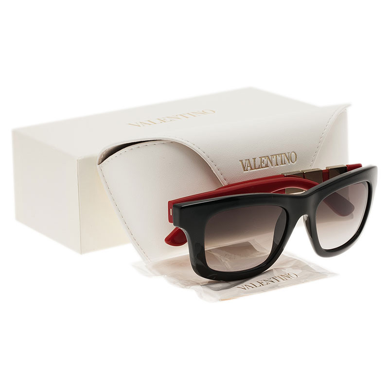 Valentino Red and Black V691S Wayfarers