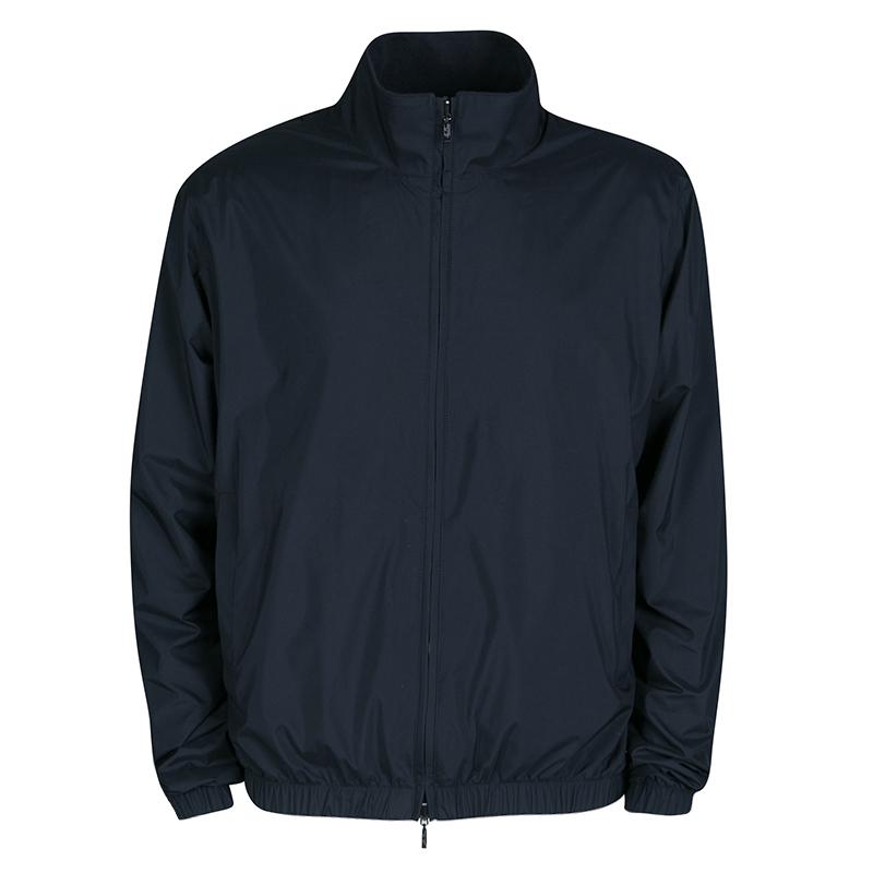 Купить со скидкой Loro Piana Dark Grey Storm System Reversible Zip Front Jacket XL