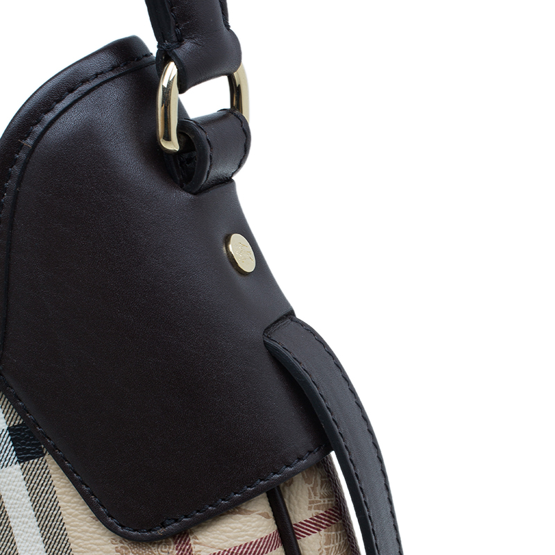 Burberry Brown Classic Check Small Brooklyn Hobo