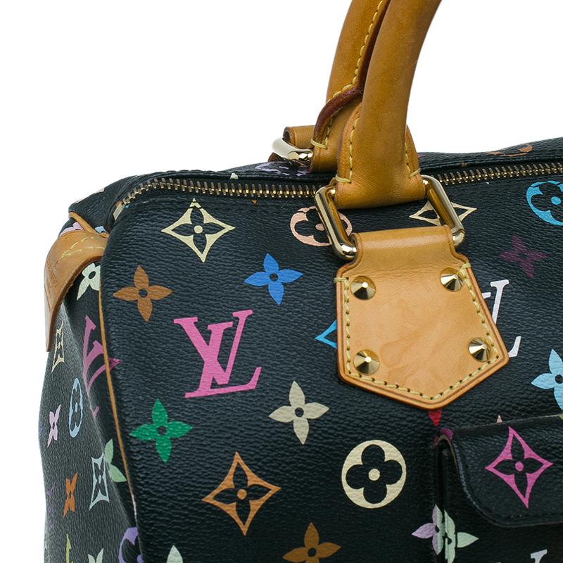 Louis Vuitton Black Multicolore Monogram Canvas Speedy 30 Bag