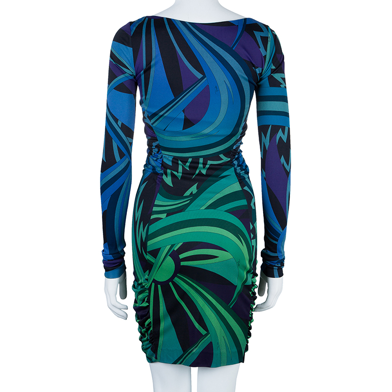 Emilio Pucci Printed Long Sleeve Dress S