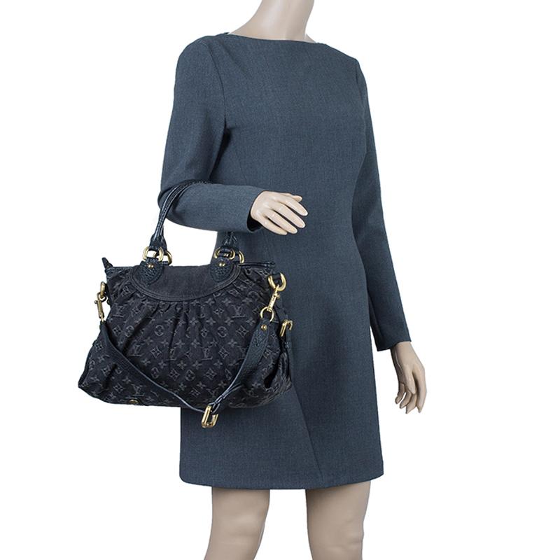 Louis Vuitton Black Denim Neo Cabby MM