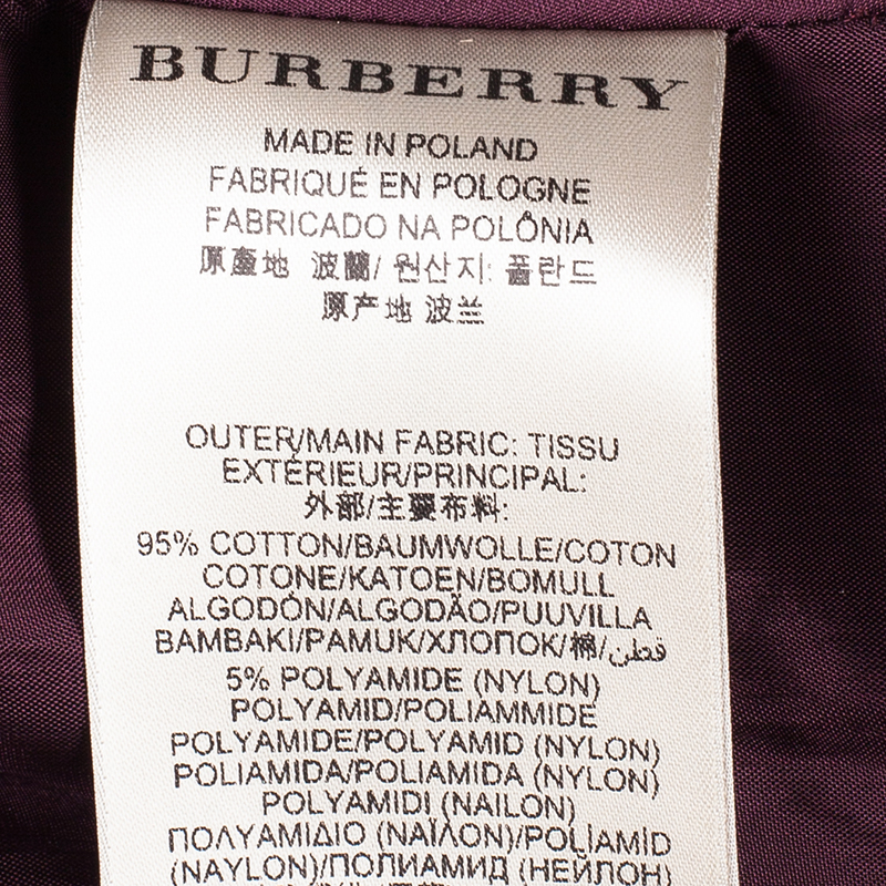 Burberry Burgundy Lace Sleeveless Dress S