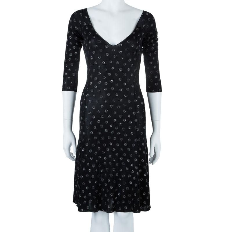 Emporio Armani Black Floral Dress M