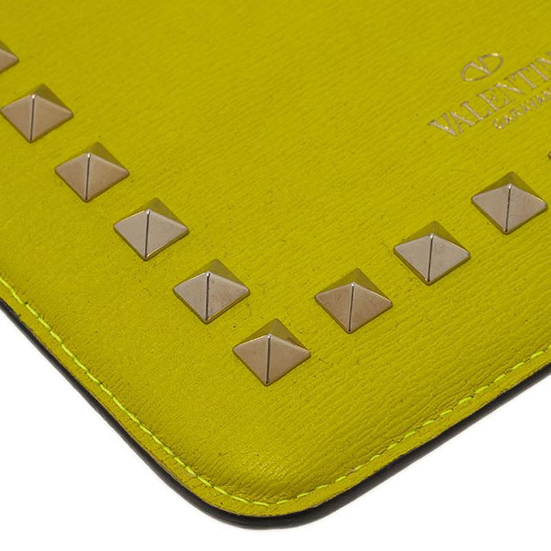 Valentino Yellow Leather Rockstud iPad Mini Case
