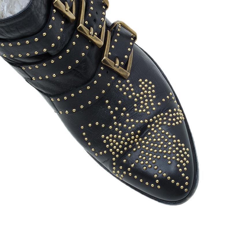 Chloe Suzanna Studded Ankle Boots UK Size 37