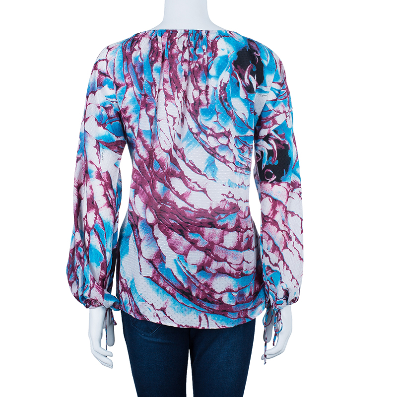 Just Cavalli Printed Cotton Multicolor Top S