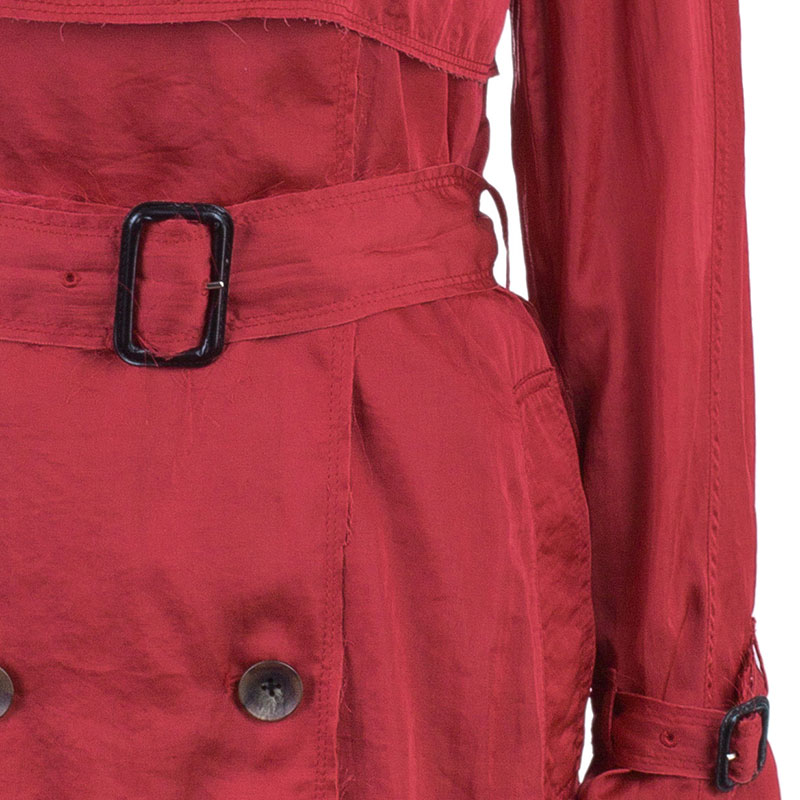 3.1 Phillip Lim Red Lightweight Trenchcoat S