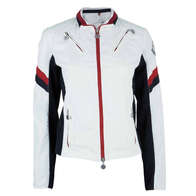 Moncler Off-white Zip Front Nylon Jacket S