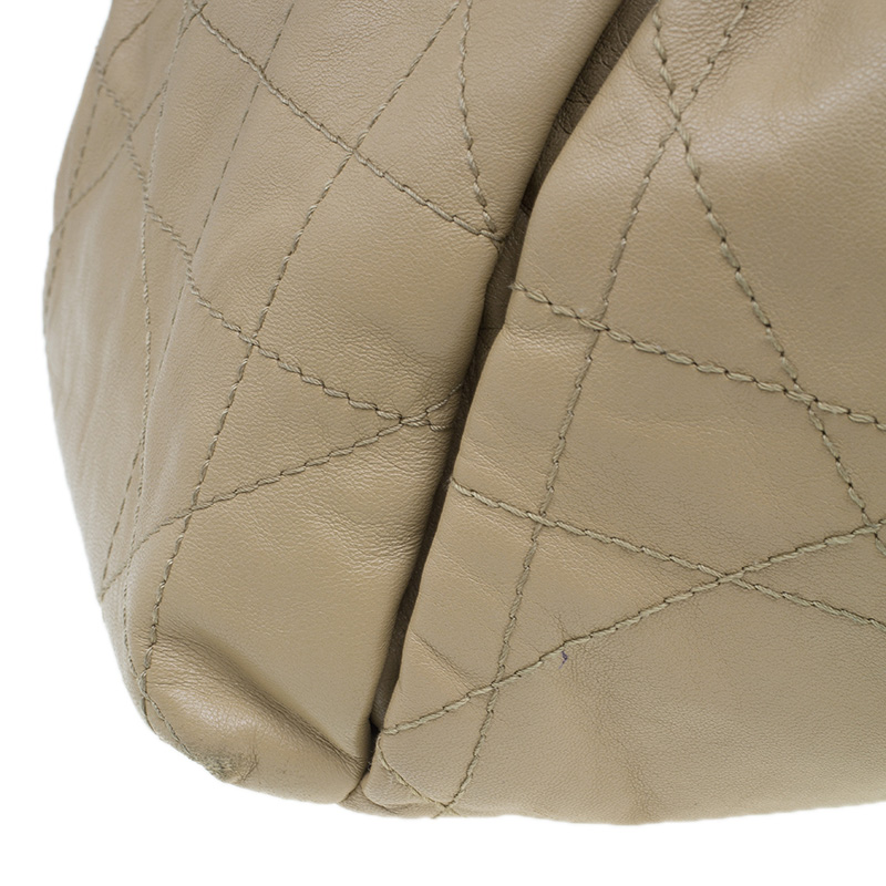 Dior Beige Cannage Lambskin Large Le Trente Hobo