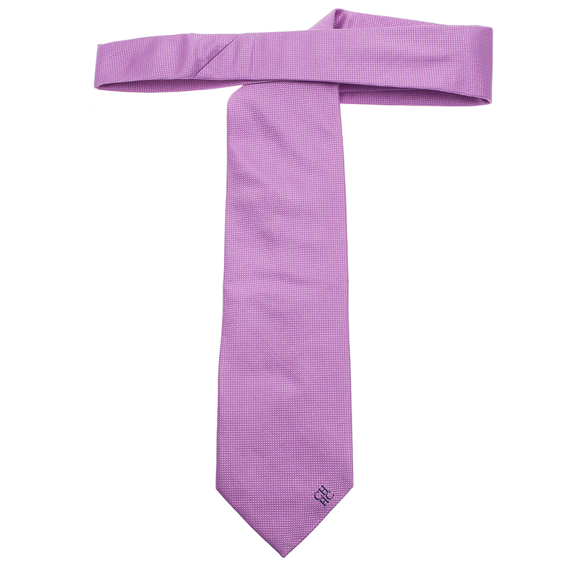 CH Carolina Herrera Purple Silk Tie