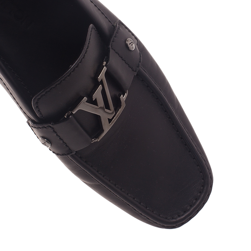Louis Vuitton Black Leather Monte Carlo Loafers Size 42