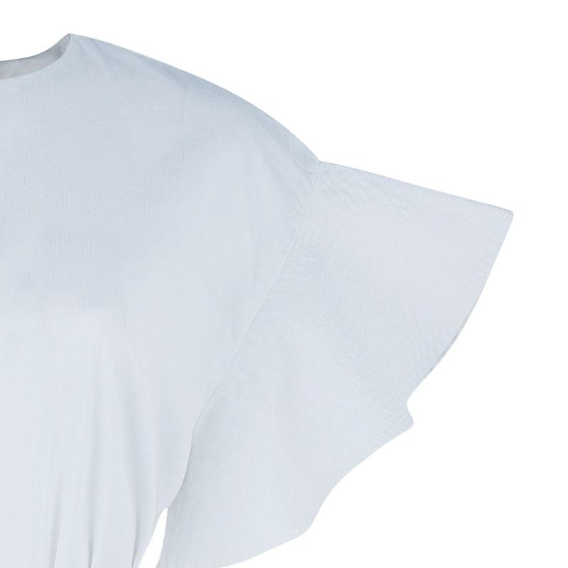 Chloe White Ruffle Sleeve Dress M
