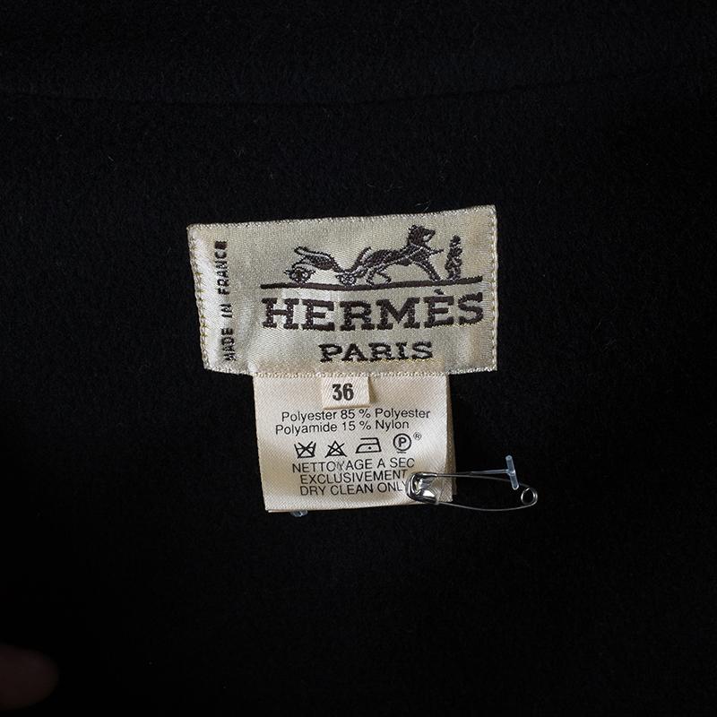 Hermes Classic Long Overcoat S